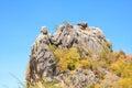 Outdoor description of head of mountain natural Royalty Free Stock Photo