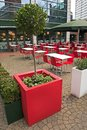 Outdoor dining area Royalty Free Stock Images