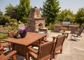 Outdoor Dining With Garden
