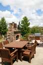 Outdoor dining and kitchen Royalty Free Stock Photo
