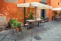 Outdoor dining nook in tuscany lucca italy Royalty Free Stock Image