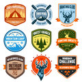Outdoor emblems Stock Photos