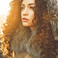 Fashion beautiful lady in autumn landscape Royalty Free Stock Photo