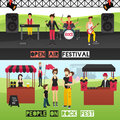 Outdoor Festival Banners Set