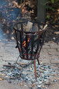 Outdoor fire pit Royalty Free Stock Photo