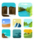 Outdoor icons set flat icon vector eps Royalty Free Stock Image