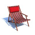 Outdoor leisure beach chair for vacations and summer getaways Stock Photography
