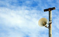 Outdoor loudspeaker warning system Royalty Free Stock Photo