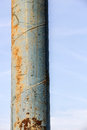 Outdoor metal pipe an old in front of a clear sky Royalty Free Stock Photos