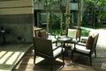 Outdoor modern resort lobby Stock Photography