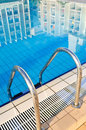 Outdoor pool in nice hotel Stock Photography