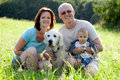 Outdoor portrait of happy family Royalty Free Stock Photo