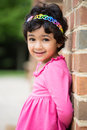 Outdoor portrait of a little girl sweet Stock Image