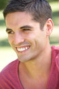 Outdoor Portrait Of Smiling Young Man Royalty Free Stock Image