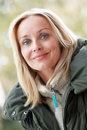 Outdoor Portrait Of Woman Wearing Winter Clothes Royalty Free Stock Photo