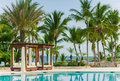 Outdoor resort pool swimming pool of luxury hotel swimming pool in luxury resort near the sea tropical paradise swimming pool i Royalty Free Stock Images