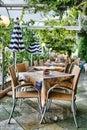 Outdoor restaurant Royalty Free Stock Photo
