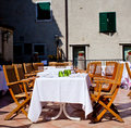 Outdoor Restaurant table Royalty Free Stock Photography