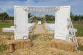 Outdoor rural wedding venue setting Royalty Free Stock Photo