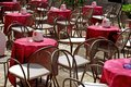 Outdoor seating - Tropea - Calabria Royalty Free Stock Photos