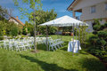 Outdoor setup for wedding Royalty Free Stock Photo