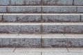 Outdoor stone staircase at building exterior Royalty Free Stock Photo