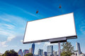 Outdoor street advertising banner billboard mockup Royalty Free Stock Photo