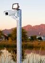 Outdoor surveillace camera Stock Photos