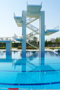 Outdoor swimming pool competition lap Stock Photos