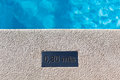 Outdoor Swimming pool detail Royalty Free Stock Photo