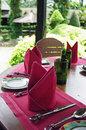 Outdoor table setting Royalty Free Stock Images