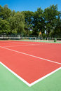 Outdoor tennis court with nobody Stock Image