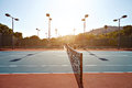 Outdoor tennis court with nobody in Malibu