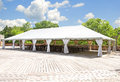 Outdoor tent for weddings or other festivity Royalty Free Stock Photo