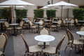 Outdoor terrace of restaurant Royalty Free Stock Photo