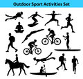 Outdoor Training Sport Activities. Male Silhouette. Royalty Free Stock Photo