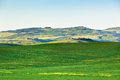 Outdoor tuscan hills landscape horizontal shot Royalty Free Stock Images