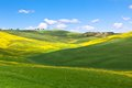Outdoor Tuscan Val d'Orcia hills Royalty Free Stock Images