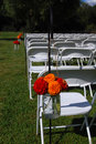 Outdoor Wedding  With Flowers Royalty Free Stock Photography