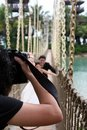 Outdoor wedding shoot Royalty Free Stock Photo