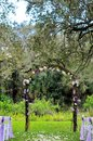 Outdoor wedding venue in Florida Royalty Free Stock Photo