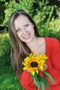 Outdoor woman young Fotografering för Bildbyråer