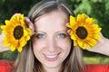 Outdoor woman young Royaltyfri Foto