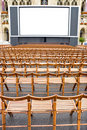 Outdoors cinema Royalty Free Stock Photos