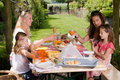 Outdoors picnic Royalty Free Stock Photo