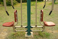 Outdoors public excercise machine in a park Royalty Free Stock Images