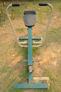 Outdoors public excercise machine in a park Royalty Free Stock Photography