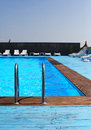 Outdor pool empty outdoor swimming gura portitei Royalty Free Stock Image