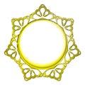 Outer decorated golden baroque vector circle frame