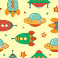 Outer space pattern colorful seamless Royalty Free Stock Photos
